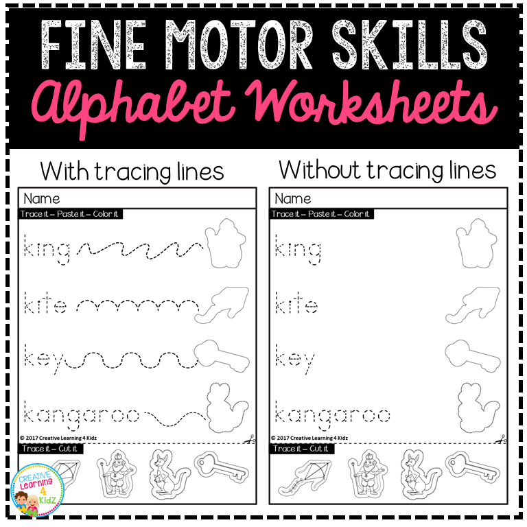 Fine Motor Skills Alphabet Worksheets ~Digital Download~