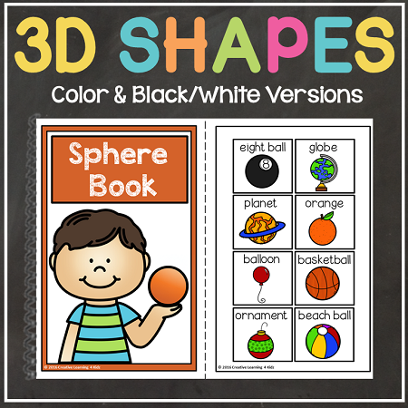 Dshapebooks on 3d shapes cut and paste worksheets