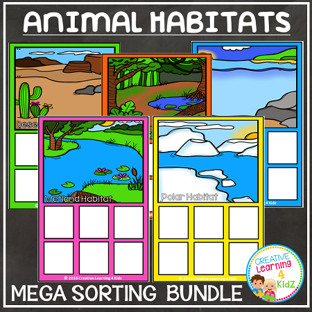 Animal Habitats Sorting Mats Digital Download_p_941 on Kindergarten Spelling Words