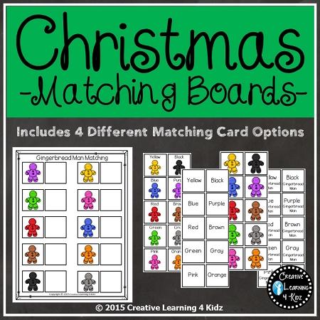Christmas Matching Board Bundle 2 Digital Download