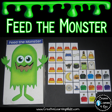 feed the monster following directions halloween digital download - Halloween Following Directions