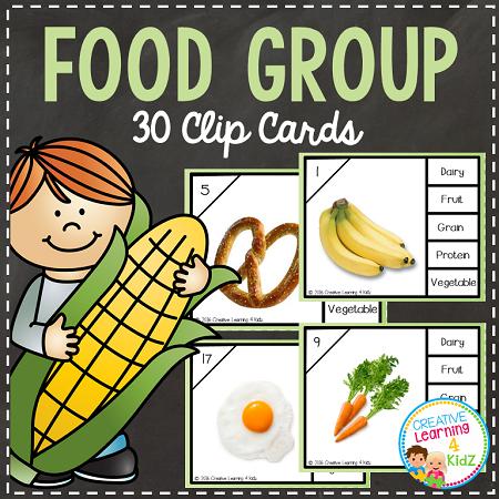 Home > Fruits/Vegetables > Food Group Clip Cards~Digital Download~