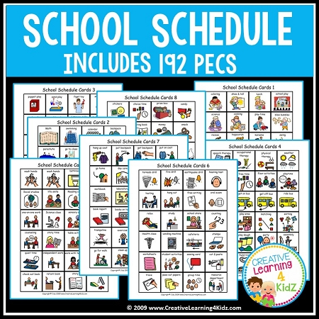 Eccezionale School Schedule Book w/192 PECS ~ Digital Download~ WZ95