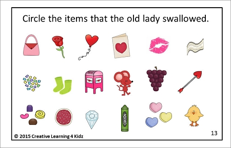 There Was An Old Lady Who Swallowed A Rose Cut Amp Paste