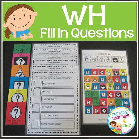 WH Question Boards & Flashcards ~Digital Download~