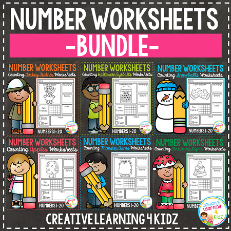 Counting worksheet 1 20