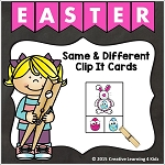 Easter Same & Different Clip it Cards ~Digital Download~