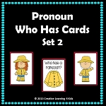 Pronoun Who Has Cards Set 2 ~Digital Download~