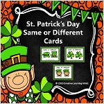 Same or Different St. Patrick's Day Cards ~Digital Download~