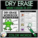 Dry Erase What Color Is It? Workbook: Color Words ~Digital Download~