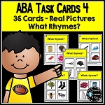 ABA Task Cards 4 What Rhymes ~Digital Download~
