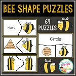 Bee Shape Puzzles ~Digital Download~