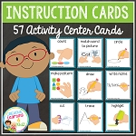 Classroom Activity Center Instruction Cards ~Digital Download~
