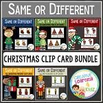 Same or Different Christmas Clip Card Bundle ~Digital Download~