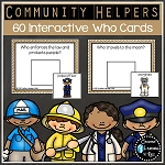 Community Helpers Interactive Who Cards ~Digital Download~