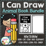 I Can Draw Animals Book Bundle ~Digital Download~