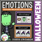 Emotion Clip Card Bundle: Halloween ~Digital Download~
