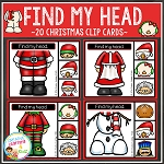 Find My Head Clip Cards: Christmas ~Digital Download~