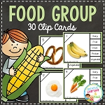 Food Group Clip Cards~Digital Download~
