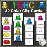 Frog Color Clip Cards ~Digital Download~
