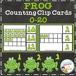 Frog Counting Clip Cards ~Digital Download~