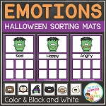 Emotion Sorting Mats: Halloween ~Digital Download~