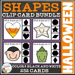 Shape Clip Card Bundle: Halloween ~Digital Download~