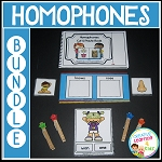 Homophones Set 1 Book - Clip it Task Cards - Matching Cards ~Digital Download~