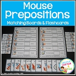 Preposition Mouse Boards & Flashcards ~Digital Download~