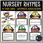 Nursery Rhyme Task Cards ~Digital Download~
