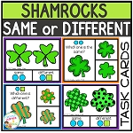 Same or Different St. Patrick's Day Shamrock Visual Task Cards ~Digital Download~
