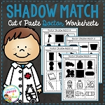Shadow Matching Doctor Cut & Paste Worksheets ~Digital Download~