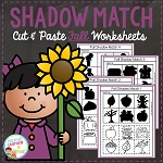Shadow Matching Fall Cut & Paste Worksheets ~Digital Download~