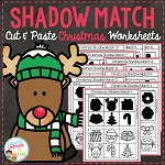 Shadow Matching Christmas Cut & Paste Worksheets ~Digital Download~