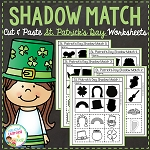 Shadow Matching St. Patrick's Day Cut & Paste Worksheets ~Digital Download~
