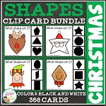 Shape Clip Card Bundle: Christmas ~Digital Download~