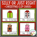 Silly or Just Right Clip Cards: Christmas ~Digital Download~