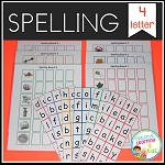 Spelling Boards 4 letter ~Digital Download~