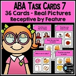 ABA Task Cards 7 Receptive by Feature ~Digital Download~