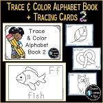 Trace & Color Alphabet Book 2 + Tracing Cards ~Digital Download~