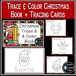 Trace & Color Christmas Book + Tracing Cards ~Digital Download~