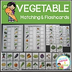 Vegetable Matching Boards + Flashcards ~Digital Download~