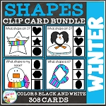 Shape Clip Card Bundle: Winter ~Digital Download~