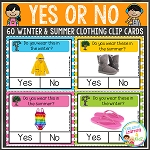 Yes or No Clothing Clip Cards with Real Pictures ~Digital Download~