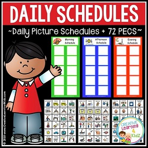 Daily Picture Schedules ~Digital Download~