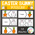 Easter Bunny Shape Puzzles Digital Download