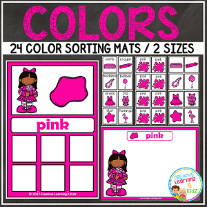 Color Sorting Mats + Color Cards ~Digital Download~