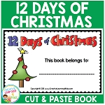Twelve  Days of Christmas Cut & Paste Book ~Digital Download
