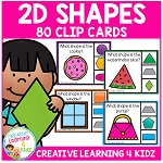 2D Shapes Clip Cards ~Digital Download~