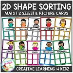 2D Shape Sorting Mats & Shape Cards ~Digital Download~